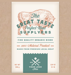 Great taste perfect bison abstract meat vector