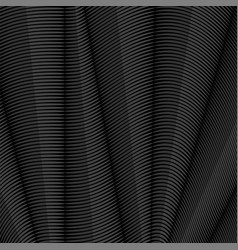 grey striped pattern wavy ribbons on dark vector image