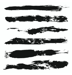 Grunge brushes set 4 vector