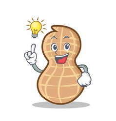 Have an idea peanut character cartoon style vector