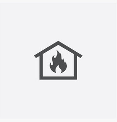 home fire insurance icon vector image