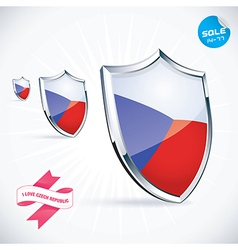 I Love Czech Flag vector