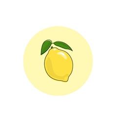 Icon Colorful Lemon vector image