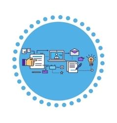 Icon Flat Style Design Search Idea vector image