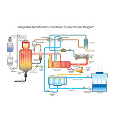 Integrated gassification combined cycle process vector