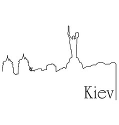 Kiev city one line drawing background vector