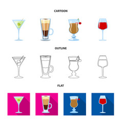liquor and restaurant vector image
