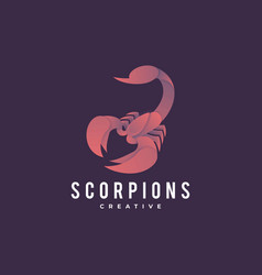 logo scorpions gradient colorful style vector image