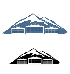 logo ski resort vector image