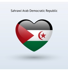 Love Sahrawi Arab Democratic Republic symbol Heart vector image