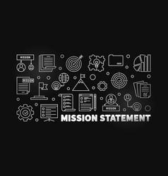 mission statement modern outline vector image