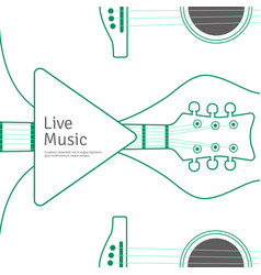 music banner with line guitar musical vector image