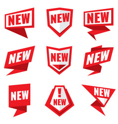 New product status labels vector