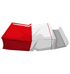 Old paper box on white background vector