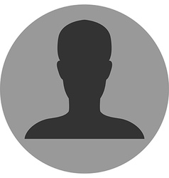 Person icon no photo vector