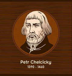 petr chelcicky vector image