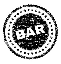 Scratched textured bar stamp seal vector