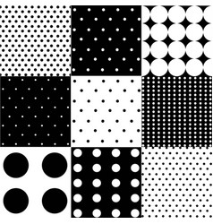 seamless black white pattern or background vector image