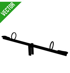 seesaw silhouette on white background vector image
