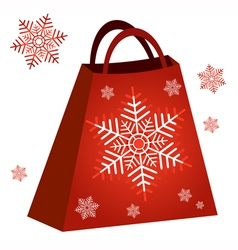 Shopping red bag vector image