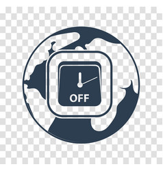 Silhouette icon earth hour vector