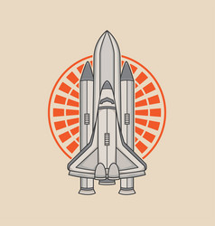 space rocket logo design vector image