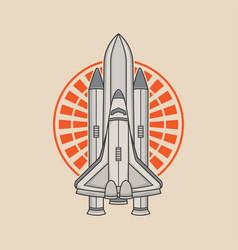space rocket logo design vector image