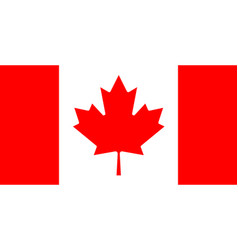 straight horizontal white-red canadian flag vector image
