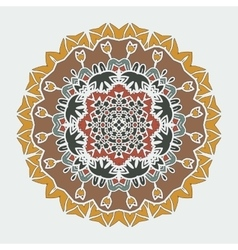 Stylized Mandala Art ornamental round lace vector image