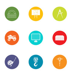 Subject icons set flat style vector