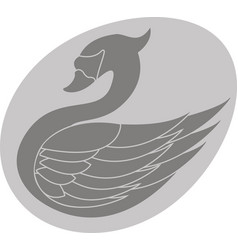 swan in egg vector image