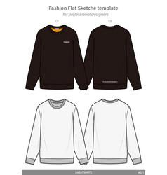 Sweatshirts fashion flat technical drawing vector