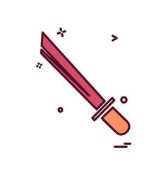 sword icon design vector image