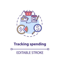 Tracking spending concept icon vector