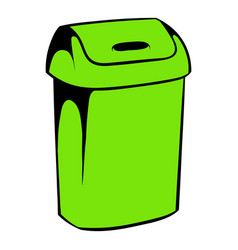 Trash can icon icon cartoon vector