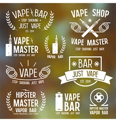 Vapor bar and vape shop logo vector