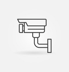 video surveillance line icon cctv symbol vector image