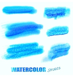 Watercolor blue swatches vector