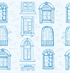 window pattern vintage vector image