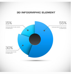 3D Infographic design vector image