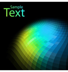 Abstract colorful mosaic background with black vector image