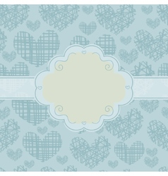 Card and seamless pattern with silhouettes of vector image vector image