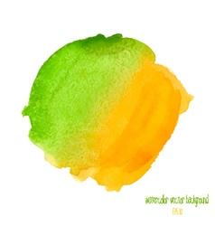 Green and yellow watercolor circle vector