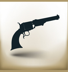 simple old revolver vector image vector image