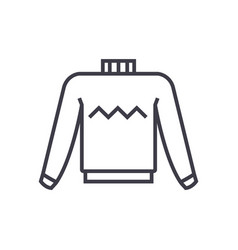 sweater line icon sign on vector image vector image