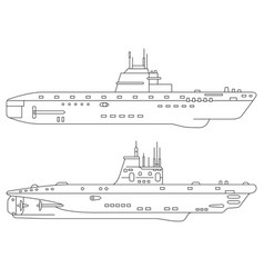 Two submarines vector