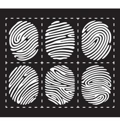 White fingerprint icon set vector image vector image