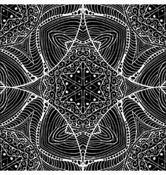 Abstract Gothic Black lacy seamless pattern vector image