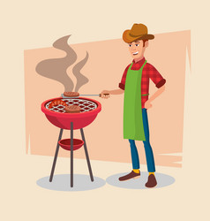 bbq party barbecue tools grill forks vector image vector image