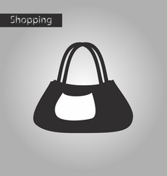 black and white style icon ladies handbag vector image vector image